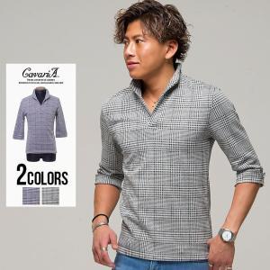 ポロシャツ メンズ トップス 7分袖