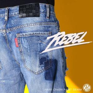 (取り寄せ)RebeL(レベル)Hard Crash Paintデニム/全1色
