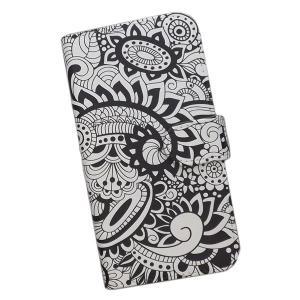 スマートフォンケース 手帳型 プリントケース 花 花柄 モノトーン おしゃれ iPhone|silvereye