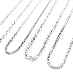 ステンレス ネックレス メンズ チェーンネックレス シルバー ゴールド アクセサリー ステンレスネックレス メール便|silverfactory