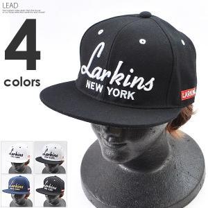 ロゴキャップ メンズ 帽子 ぼうし レディース LARKINS ラーキンス キャップ ブラック ネイビー ホワイト つば付き|silverfactory