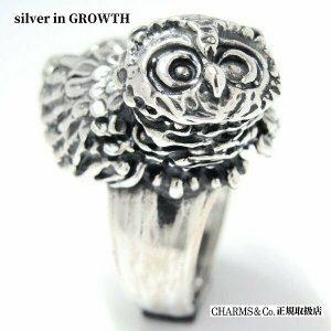 『CHAMS&Co/チャームス&コー』梟のリング イタリア製《Made in Italy》シルバー925:銀製  15号|silveringrowth