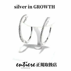 フルエタニティー フープシルバー ピアス 中折れタイプ (スモール) silveringrowth