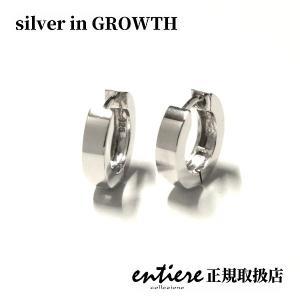 シンプル フープシルバー ピアス 中折れタイプ2 silveringrowth