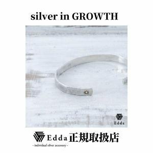 Edda(エッダ) シルバー バングル ブレスレット レディース ブラウンダイヤモンド|silveringrowth