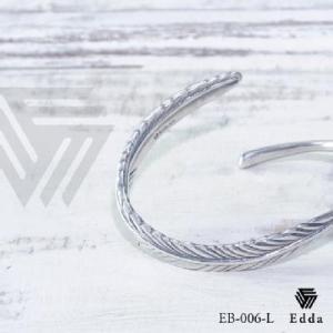 Edda(エッダ) シルバー バングル レディース フェザー|silveringrowth