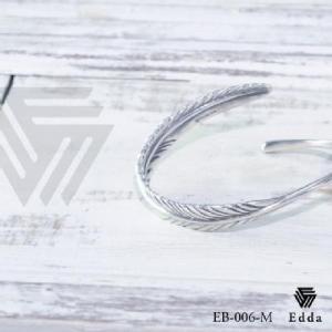 Edda(エッダ) シルバー バングル メンズ フェザー|silveringrowth