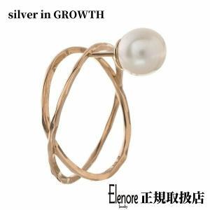10金パールXリングスタッド/片耳分/エレノアジュエリー/Elenore Jewelry|silveringrowth