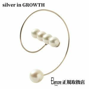 10金パールバースパイラルフープピアス/片耳分/エレノアジュエリー/Elenore Jewelry|silveringrowth