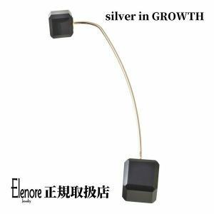10金オニキスキューブピンピアス/片耳分/エレノアジュエリー/Elenore Jewelry|silveringrowth