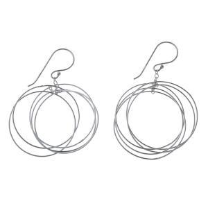 エレノアジュエリー Elenore Jewelry サークルシルバーピアス3 両耳分 ELE0028 silveringrowth