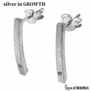 エレノアジュエリー Elenore Jewelry 天然ダイヤモンドシルバーピアスL 両耳分 ELE0032 silveringrowth