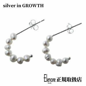 エレノアジュエリー Elenore Jewelry パールフープシルバーピアス 両耳分 ELE0037 silveringrowth