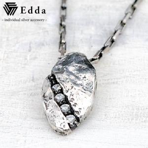 Edda(エッダ) シルバー ネックレス メンズ レディース ホワイトキュービック|silveringrowth