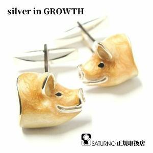 SATRNO サツルノ カフスボタン ブタ|silveringrowth