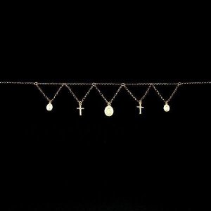 ネックレス レディース マリアコイン&クロス シルバー925 ゴールドコーティング silveringrowth