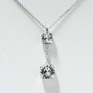 イタリア製 スクエア スワロフスキークリスタル ネックレス silveringrowth