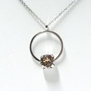 イタリア製 スクエア シャンパンゴールド スワロフスキークリスタル ネックレス silveringrowth