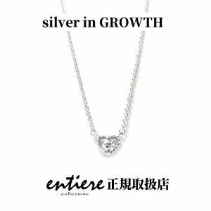 ハート&ジルコニア プチネックレス|silveringrowth