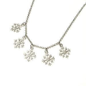 イタリア製 雪の結晶モチーフ ネックレス silveringrowth