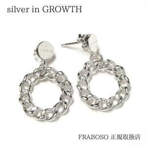 チェーンタイプサークル シルバーピアスイタリア:FRABOSO(フラボッソ)|silveringrowth