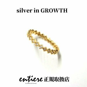 ダイヤ型エタニティ ピンキーリング ゴールドコーティング|silveringrowth