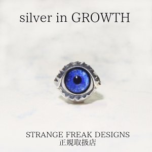 STRANGE FREAK DESIGNS(ストフリ)ミネラ ピアス (シルバー925製) SFD-O-062-wh-H silveringrowth