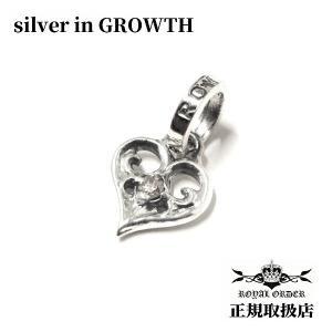 ロイヤルオーダー ROYAL ORDER /SMALL ALLEGRA HEART WITH DIAMONDS|silveringrowth