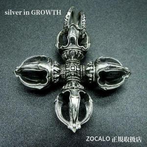 ZOCALO(ソカロ)クラウン・ダブル・ドージェ  Crown Double Dorje (シルバー950製)|silveringrowth