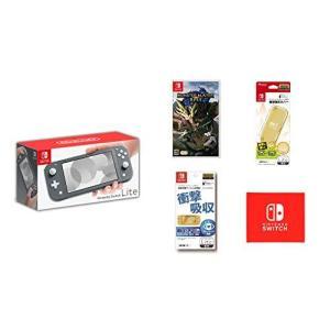Nintendo Switch Lite グレー モンスター ハンター ライズ 限定 セット ゲーム...