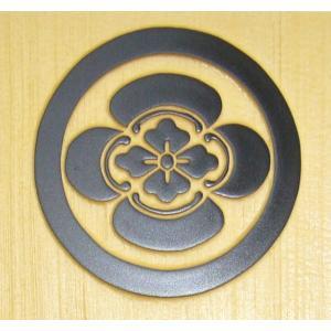表札 木 戸建 玄関用 木製表札 家紋表札白飛馬特寸 浮き彫り表札|simaya|02