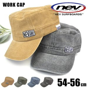 NEV SURFBOARDS ネブ nev サーフブランド ワークキャップ キャスケット ハンチング ツイルキャップ 帽子 キャップ 刺繍 ロゴ ワッペン 男の子 女の子|sime-fabric