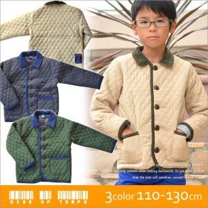キルトジャケット キッズ キルティング ジャケット キッズ パイピング ジャケット コーデュロイ 送料無料|sime-fabric