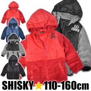 SHISKY ジャンパー ジップアップパーカー 切替パーカー シャギー 切り替え シスキー アウター 男の子 女の子 ジャケット ライトアウター 中綿 メール便不可|sime-fabric
