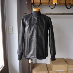 Re made in tokyo japan アールイー Japan Horse Leather Blouson  ジャパンホースレザーブルゾン black simonsandco