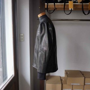 Re made in tokyo japan アールイー Japan Horse Leather Blouson  ジャパンホースレザーブルゾン black simonsandco 03