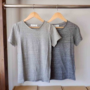 SARAXJIJI サラジジ lafie gauze ラフィーガーゼ C-neck CS Short Sleeve charcoal|simonsandco