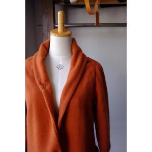 SARAXJIJI(サラジジ) Wool Flannel Coat(ウールフランネルコート) <2 colors>|simonsandco