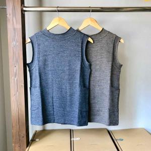 SARAXJIJI サラジジ wool knit vest ウールニットベスト 3 colors|simonsandco
