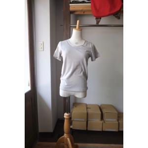 SARAXJIJI サラジジ R-cotton ラフコットン U-neck CS-R Short Sleeve gray|simonsandco
