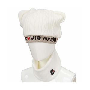 57a0e1275a13f3 アルチビオ archivio 帽子 ニットキャップ レディス ホワイト 090 フリー
