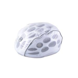 サイクリング ヘルメットカバー 雨や紫外線から大切な頭を守ります! 【ホワイト、ブラック、蛍光グリー...