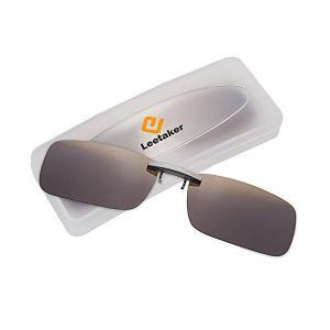 Leetaker クリップサングラス 偏光クリップ眼鏡 UVカット 夜間運転用 昼夜兼用 男女兼用[並行輸入品] simpleplan