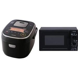 【セット販売】アイリスオーヤマ 炊飯器 IH式 5合 銘柄炊き分け機能付き RC-IE50-B &a...