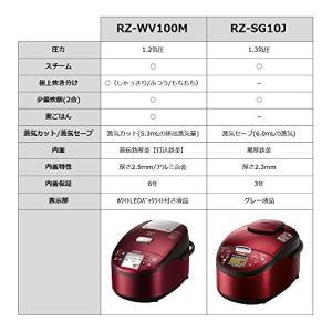 日立 圧力スチームIH炊飯器 5.5合 レッド RZ-SG10J-R|simpleplan