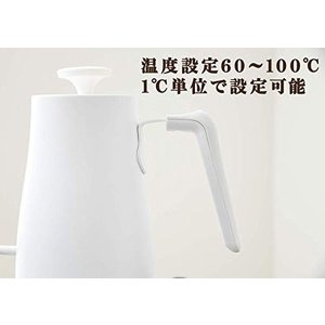 山善 電気ケトル 0.8L (温度設定機能/保温機能/空焚き防止機能) YKG-C800(W)|simpleplan