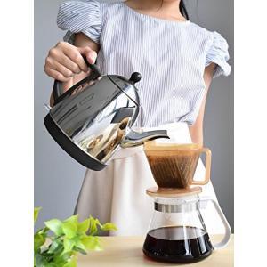 dretec(ドリテック) 電気ケトル ステンレス コーヒー ドリップ ポット 細口 湯沸かし 0.8L ブラック PO-115BKDI simpleplan