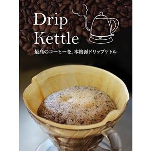 dretec(ドリテック) 電気ケトル ステンレス コーヒー ドリップ ポット 細口 湯沸かし 0.8L PO-143BK(ブラック) simpleplan
