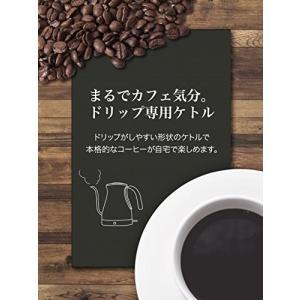 dretec(ドリテック) 電気ケトル ステンレス コーヒー ドリップ ポット 細口 1.0L PO-350SV(シルバー) simpleplan