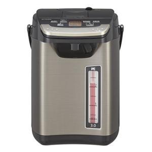 タイガー 魔法瓶 電気 ポット 3L バーミリオン 蒸気レス 節電 VE 保温  とく子さん PIG-S300-K Tiger|simpleplan